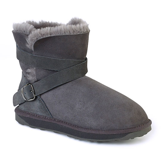 Ladies Durham Sheepskin Boots Granite