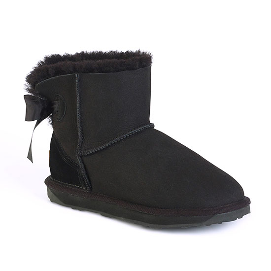 Ladies Devon Sheepskin Boots Black