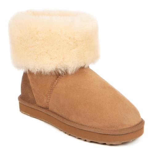 Ladies Cornwall Sheepskin Boots Chestnut