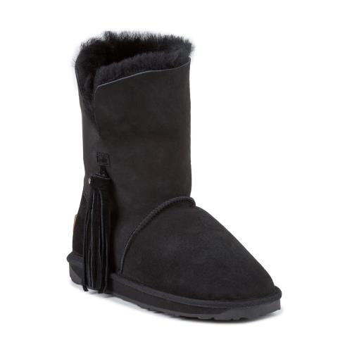 Ladies Derby Sheepskin Boots  Black