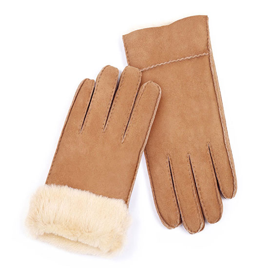 Ladies Charlotte Sheepskin Gloves Chestnut