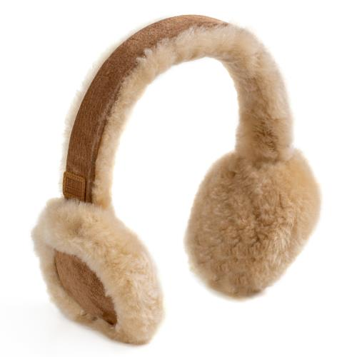 Ladies Brompton Sheepskin Ear Muffs Chestnut