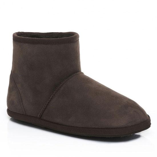 Mens Chester Sheepskin Slippers Chocolate UK Size 78