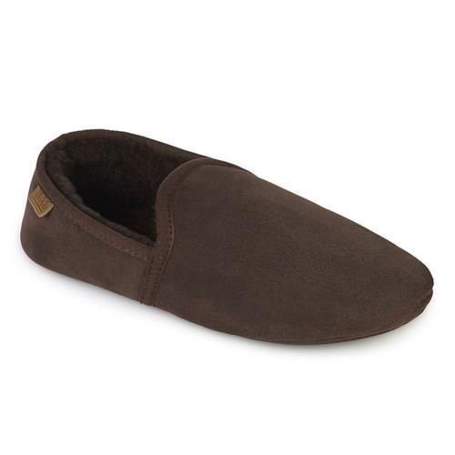 Mens Garrick Sheepskin Slippers Chocolate UK Size 78