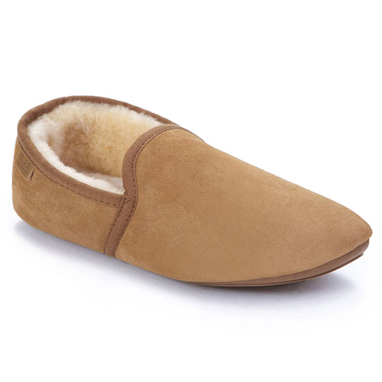 Mens Garrick Sheepskin Slippers Chestnut