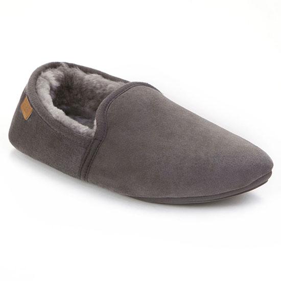 Mens Garrick Sheepskin Slippers Granite UK Size 1112
