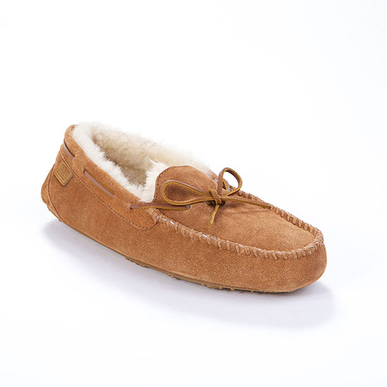 Mens Torrington Sheepskin Slippers Chestnut