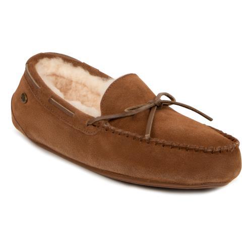 Mens Torrington Sheepskin Slippers Chestnut UK Size 11