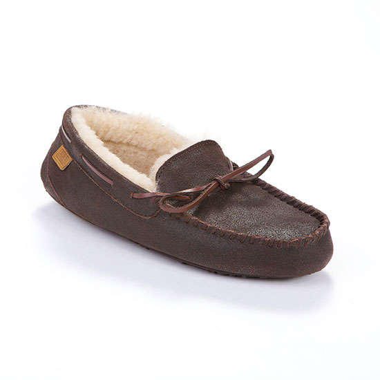 Mens Torrington Sheepskin Slippers Distressed