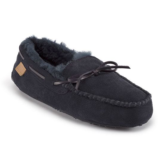 Mens Torrington Sheepskin Slippers Midnight