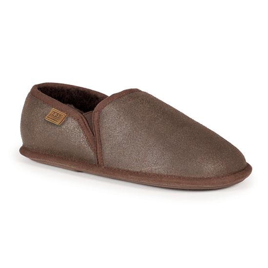 Mens Hoxton Sheepskin Slippers Distressed UK Size 9