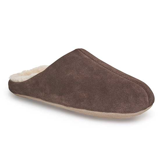 Mens Kilburn Sheepskin Slippers Chocolate