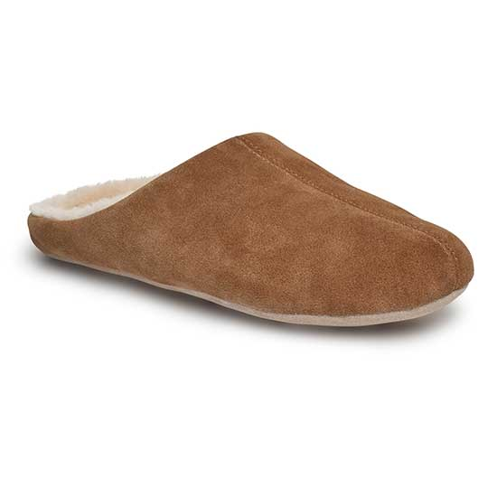 Mens Kilburn Sheepskin Slippers Chestnut