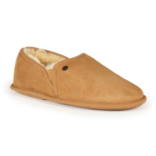 Mens Hoxton Sheepskin Slippers Chestnut