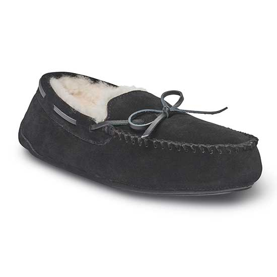 Mens Torrington Sheepskin Slippers Black