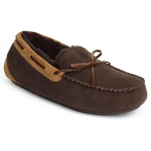 Men's Footwear Mens Torrington Sheepskin Slippers Chocolate (Chestnut Binding) UK Size 9