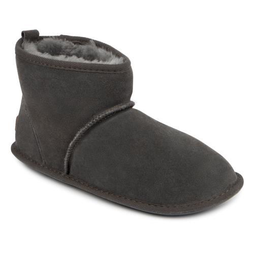 Men's Footwear Mens Chester Sheepskin Slippers Granite UK Size 7/8