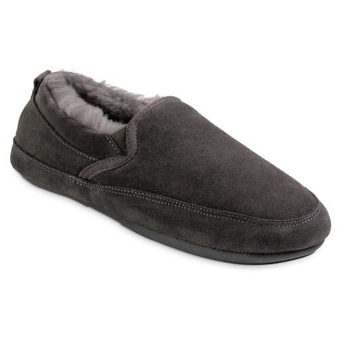 Mens Warwick Sheepskin Slippers Granite