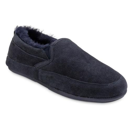 Mens Warwick Sheepskin Slippers Midnight