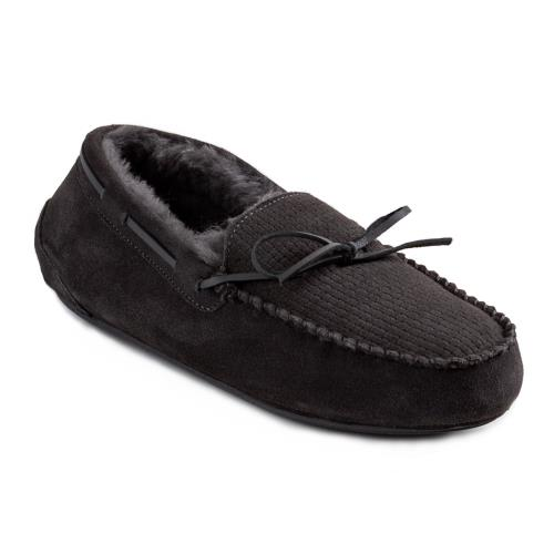 Mens George Sheepskin Slipper Granite