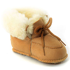 Babies Franklin Sheepskin Booties