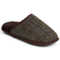 Mens Russell Tweed Sheepskin Slippers