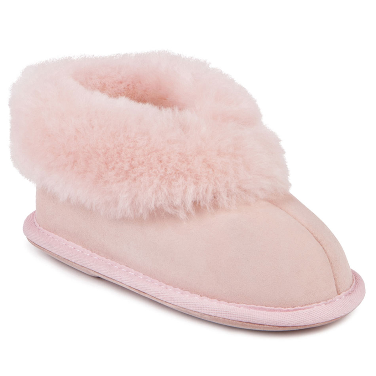 9680dd9e6a99 Childrens Classic Sheepskin Slippers Baby Pink