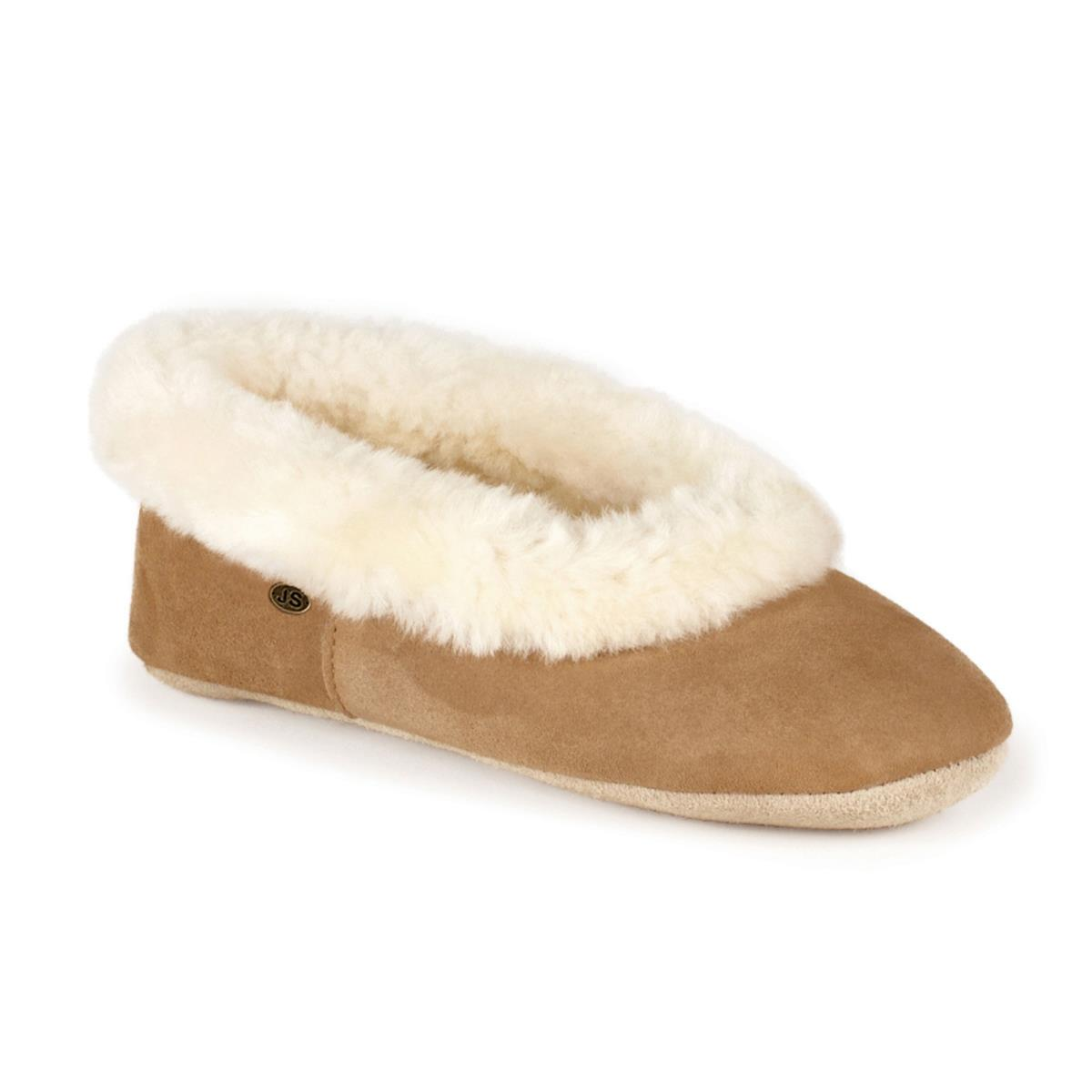 dc8e3a4eed15c0 Ladies Queen Sheepskin Slippers Chestnut