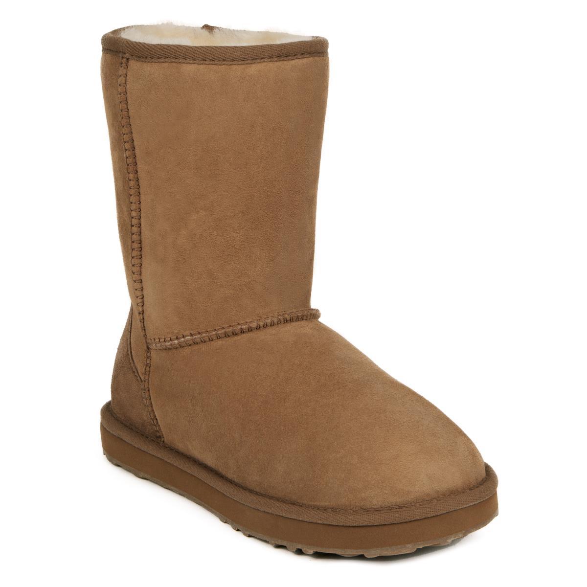 Ladies Short Classic Sheepskin Boots Just Sheepskin