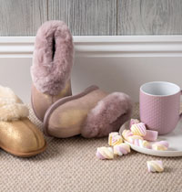 Childrens Sheepskin Slippers & Boots